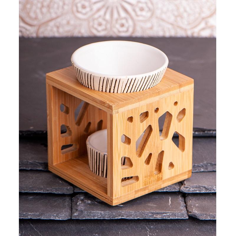 Aromalamp bamboe keramiek