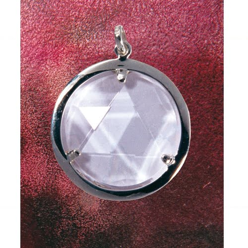 Bergkristal medaillon