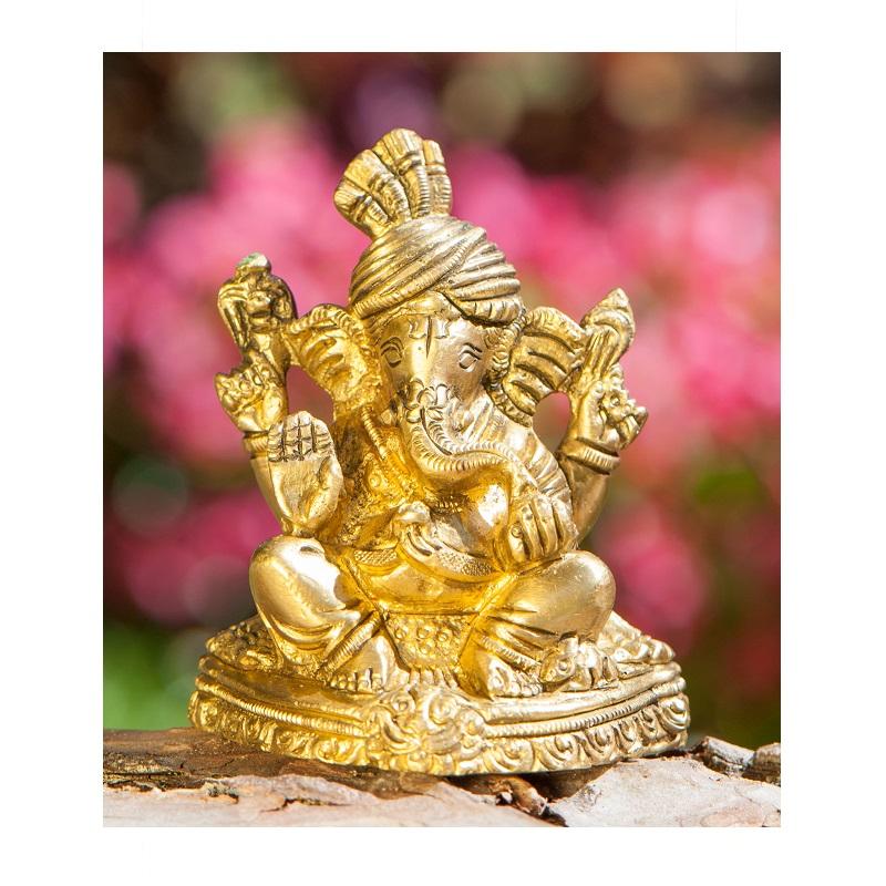 Ganesha messing antiek 8 cm